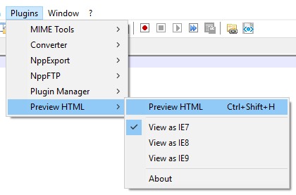 Preview HTML plugin added