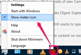 Show meter icon