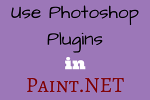 Use Photoshop Plugins in Paint.NET