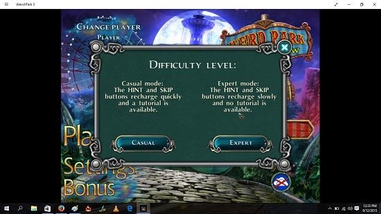 Weird Park 3 choose difficulty level