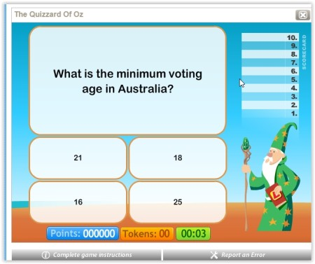 play trivia quizzes online