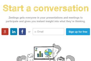 Zeetings- free website to create and broadcast presentation