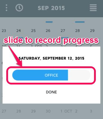 activity progress