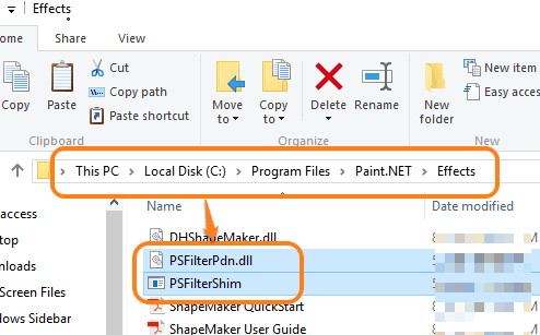 add the extracted files in Effects folder of Paint.NET