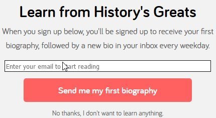 biography daily signup