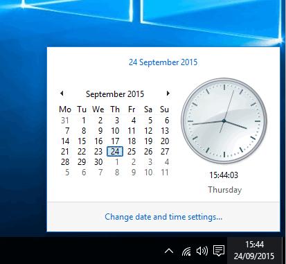 bring back old classic clock in Windows 10