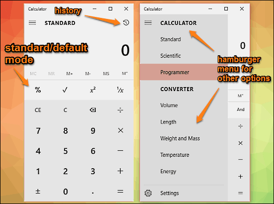 calculator main ui