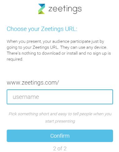 choose a Zeetings URL