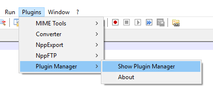 click on Show Plugin Manager option