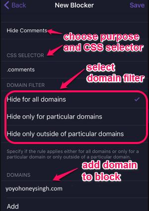 create a new blocker