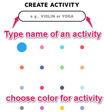 create activity
