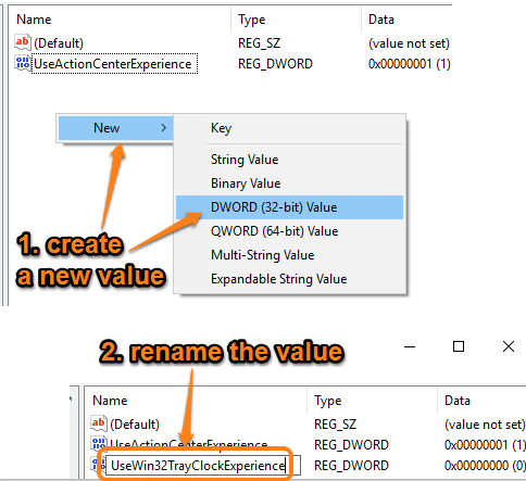 create new value and rename it