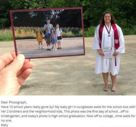 dear photograph caption
