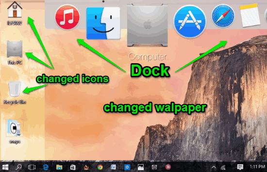 Free Mac OS X Theme For Windows 10