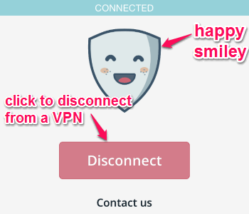 disconnect option