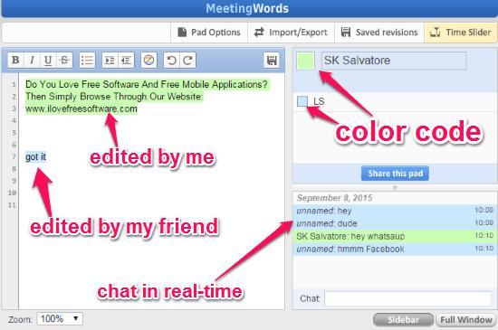 editing text