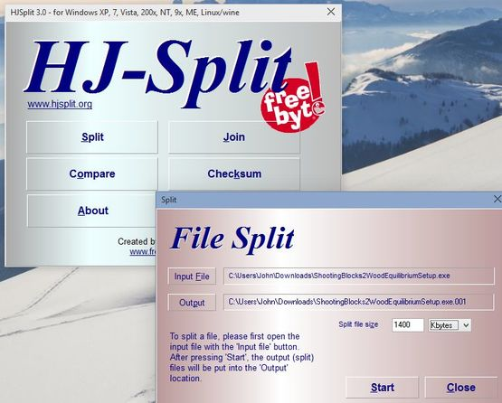 file splitter software windows 10 1