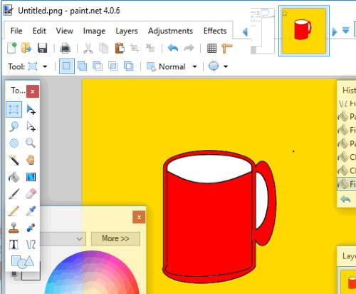 fill colors to custom shape