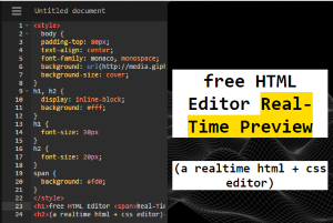 free HTML editor websites with real-time preview
