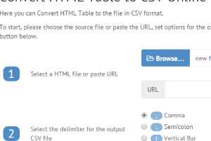 free websites to convert HTML table to CSV file