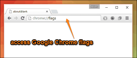google chrome access flags