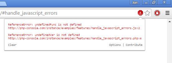 javascript error notifier extensions chrome 1