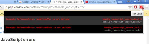 javascript error notifier extensions chrome 2