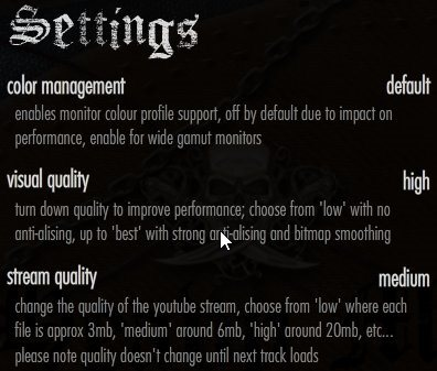 map of metal settings