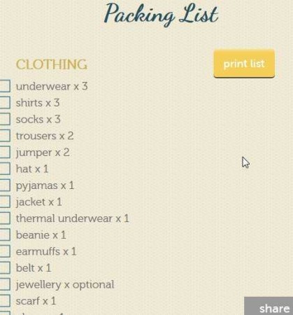 packing list home1