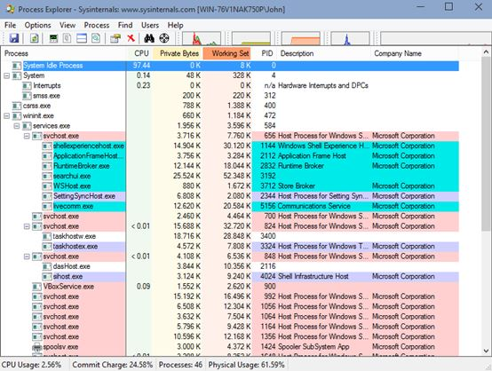 process explorer software windows 10 1