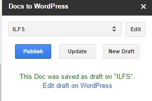 publish Google Docs to WordPress