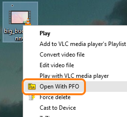 right-click context menu option