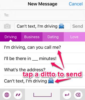 send ditto's