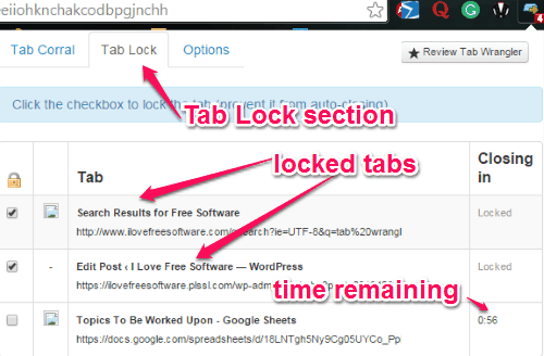 tab lock