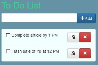 to do list added items
