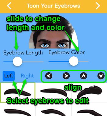 toon eyebrows