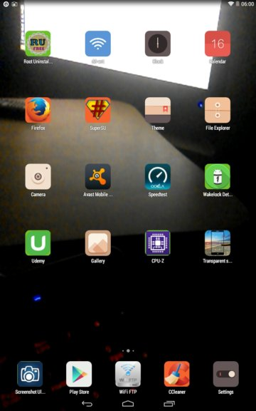 transparent screen apps android 4