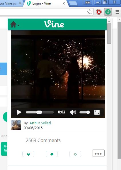 vine extensions chrome 1
