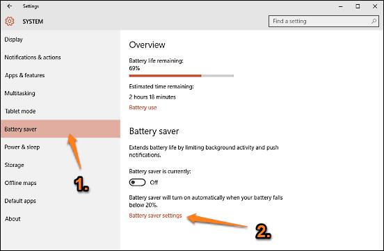 windows 10 advanced battery saver options