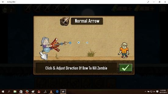 Archery Blitz controls