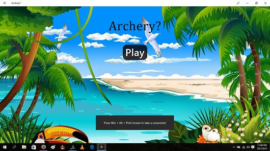 Archery Main Screen