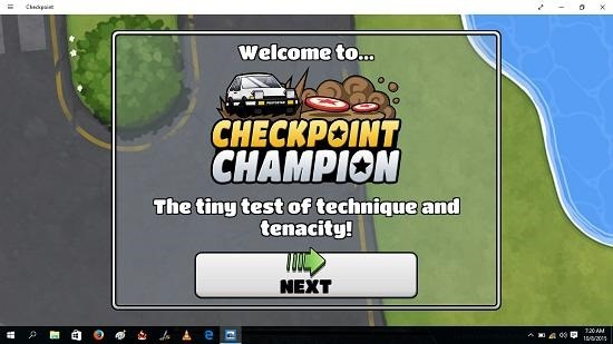 Checkpoint Champion main screen