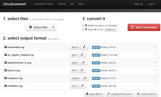 CloudConvert website