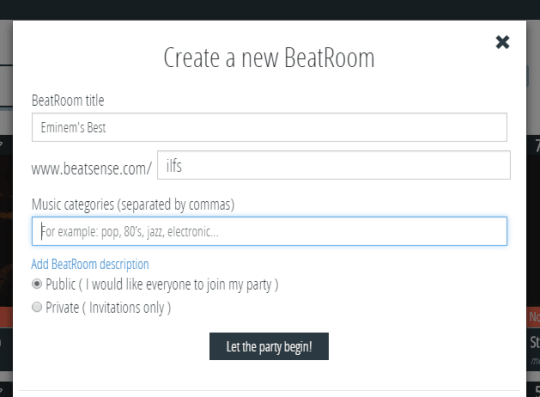 Create a new BeatRoom