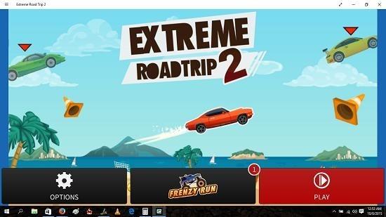 Extreme Road Trip 2 Main Screen