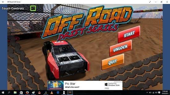 Off Road Drift Series Main Menu