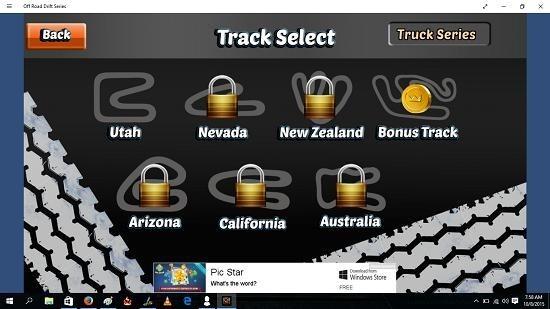Off Road Drift Series choose track