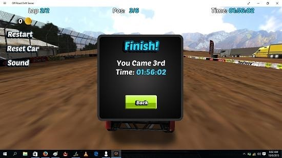 Off Road Drift Series game over