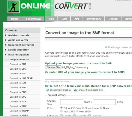 Online-convert.com website