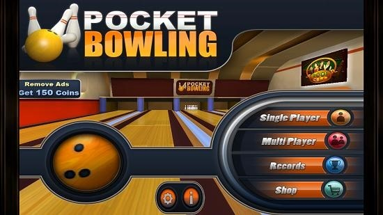 Pocket Bowling 3D Main Screen